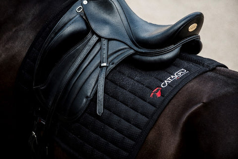 CATAGO FIR-tech Healing Saddle Pad Black - Pony /Cob 16