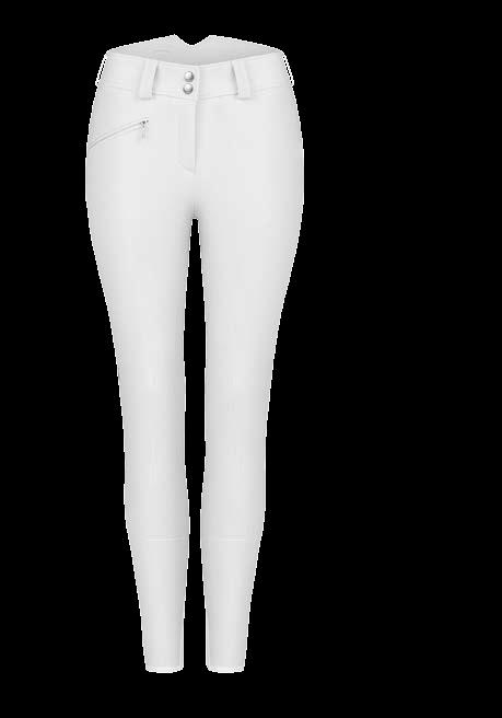Cavallo Chagall Grip C ladies High Waist competition breech- white - Divine Equestrian