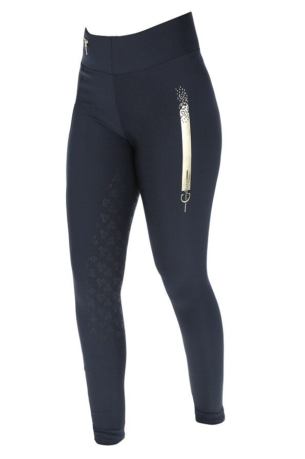 Covalliero SS21 Ladies Sporty Riding Tights - Navy - Divine Equestrian