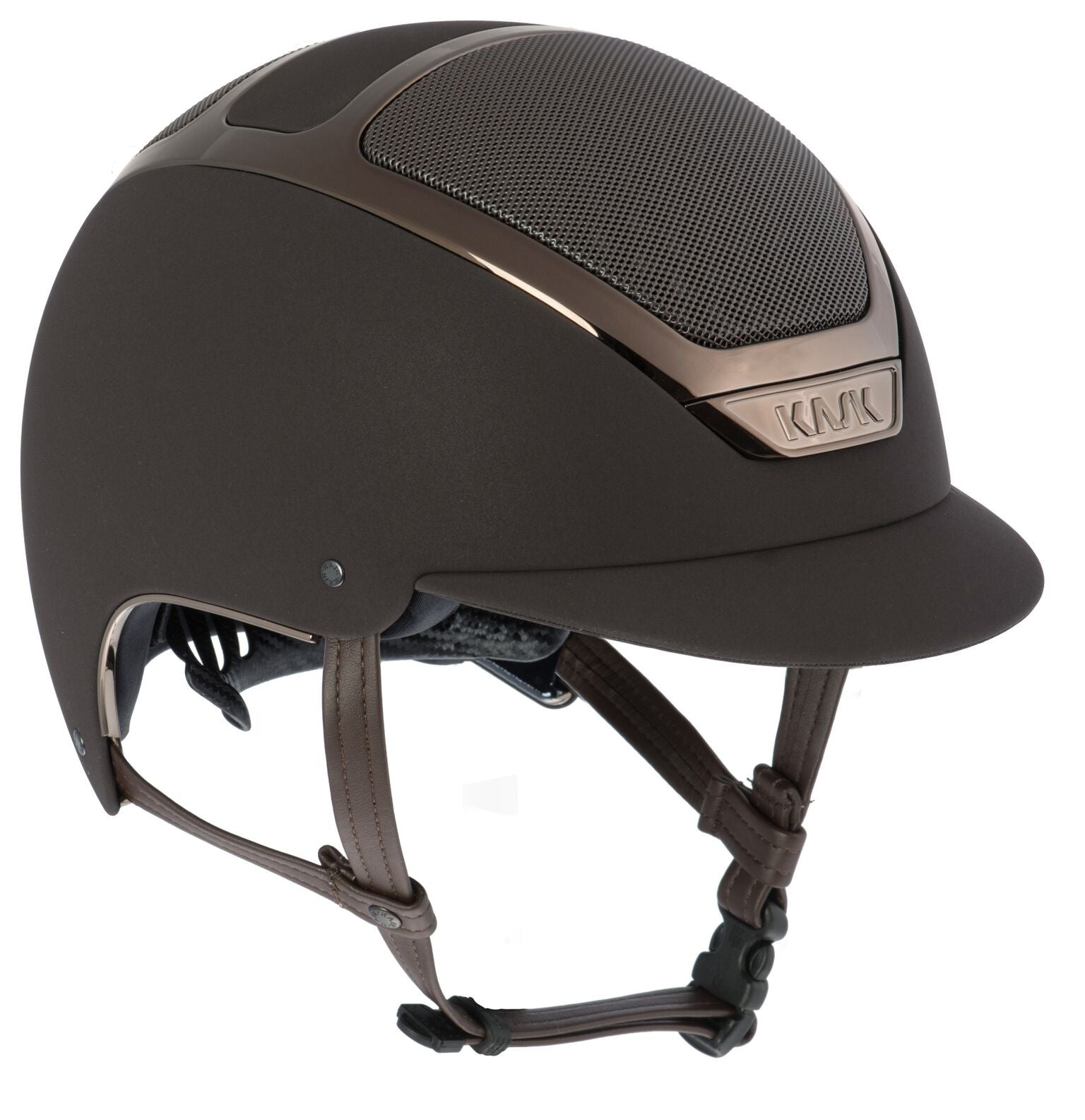 KASK DOGMA CHROME LIGHT - BROWN / BROWN - Divine Equestrian