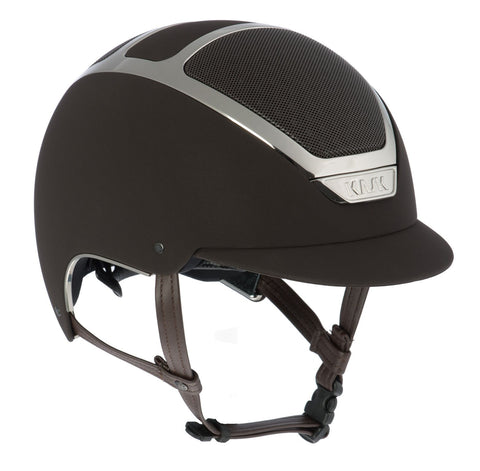 KASK DOGMA CHROME LIGHT - BROWN / SILVER - Divine Equestrian