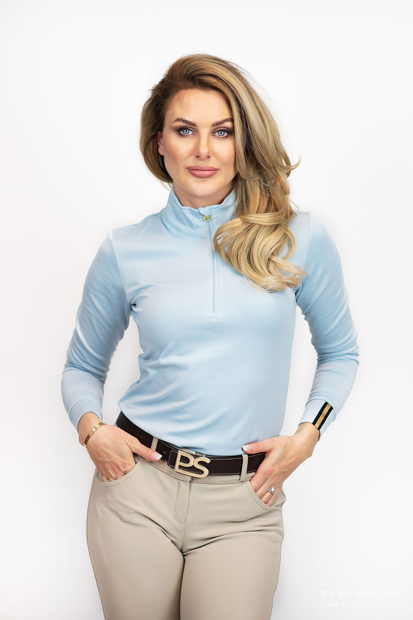 PS Of Sweden Limited Edition Bonnie Base Layer - Sky Blue - Divine Equestrian