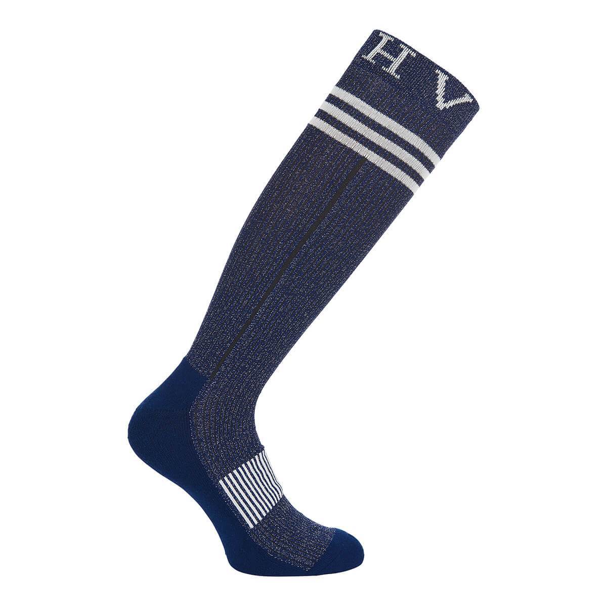 HV Polo Glitter Socks - Black - Blueberry or Navy - Divine Equestrian
