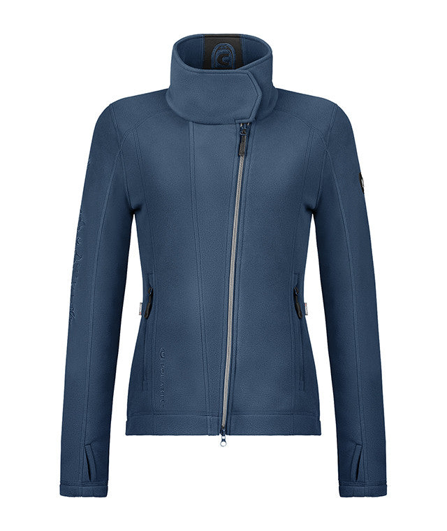 Cavallo Hera Polartec Asymmetric Zip Fleece in Teal