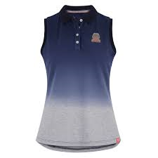 Imperial Riding SS19 Holidays Fade Sleeveless Polo shirt - Navy
