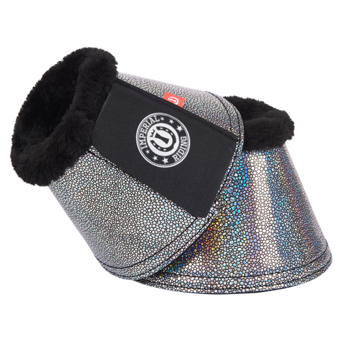 Imperial Riding Holo Glitter Faux Fur Over Reach Boots - All sizes - Divine Equestrian