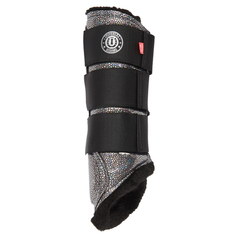 Imperial Riding Holo Glitter Faux Fur Brushing Boots Boots - All sizes - Divine Equestrian