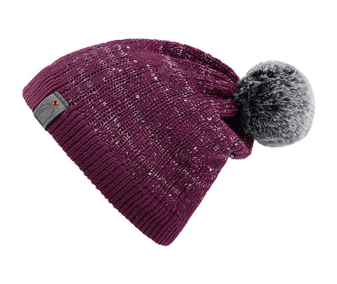 Cavallo Julietta Sequin Knitted Hat - Dark Fuchsia