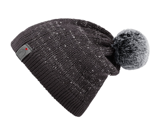 360d415064a Cavallo Julietta Sequin Knitted Wool Hat - Graphite – Divine Equestrian