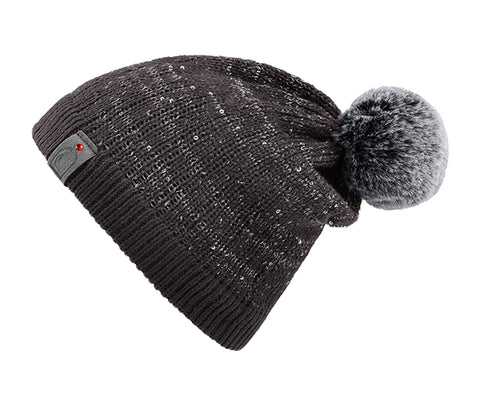 Cavallo Julietta Sequin Knitted Wool Hat - Graphite - Divine Equestrian
