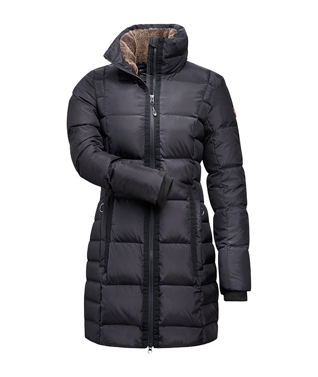 Cavallo Lolo Long Down Ladies Coat - Navy - Divine Equestrian