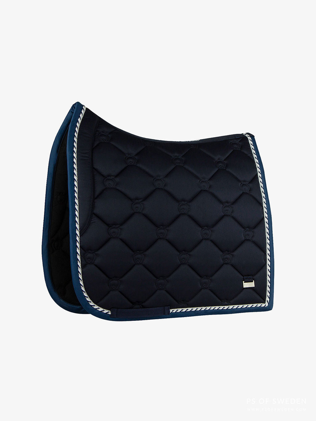 PS of Sweden AW20 Limited Edition Monogram Saddle Pad -MARINE - Divine Equestrian