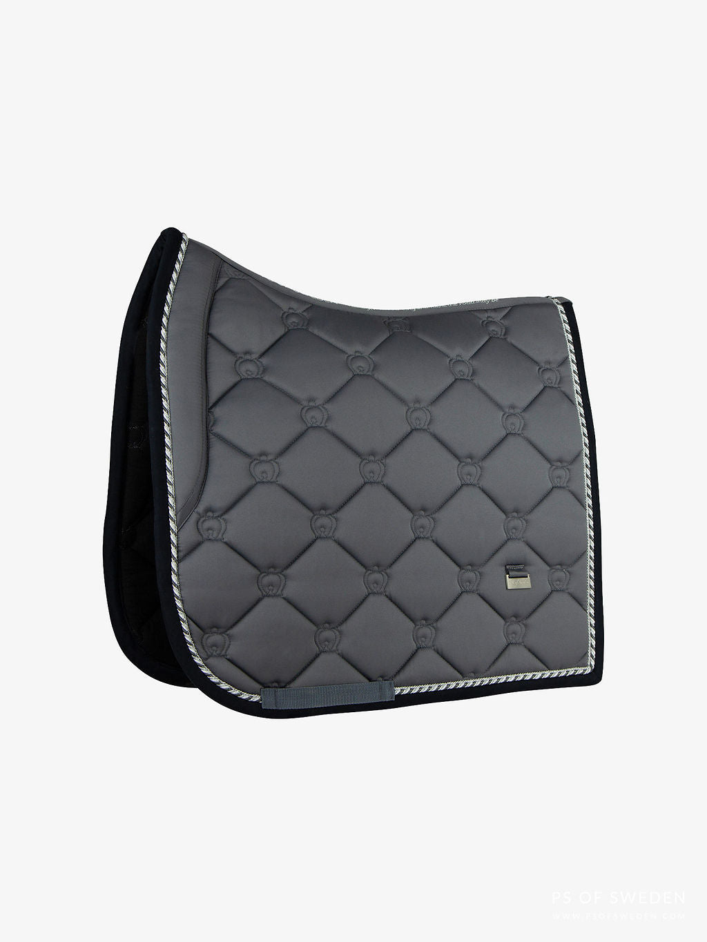 PS of Sweden AW20 Limited Edition Monogram Saddle Pad - ANTHRACITE - Divine Equestrian