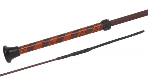 Fleck Dressage whip- Silk Touch- Black - 03719-120
