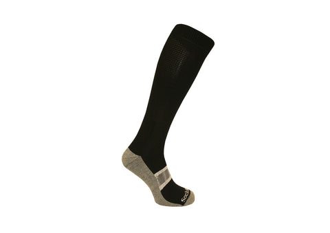 Black Horse Long Sock Black with Grey foot