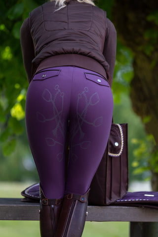 PS of Sweden Zoe Ladies Breeches - Grape - Divine Equestrian