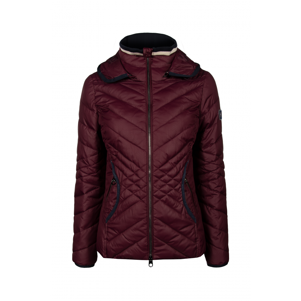 Cavallo AW19 Onna ladies quilted jacket - Wildberry - Divine Equestrian