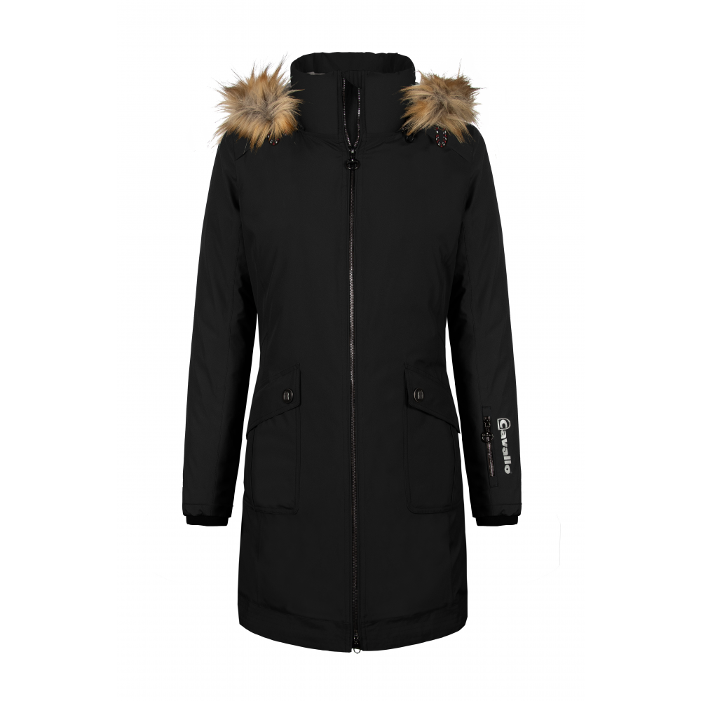 Cavallo AW19 Oshea Waterproof Ladies Parka - Black - Divine Equestrian