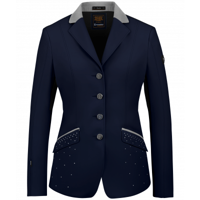 Cavallo Estoril MAST Show Jacket - Deep Blue with Light grey - Divine Equestrian