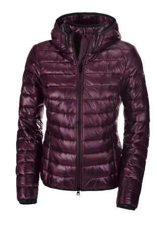 Pikeur AW19 ILVY Ladies Quilted Jacket with Detachable Hood - Bordeaux - Divine Equestrian