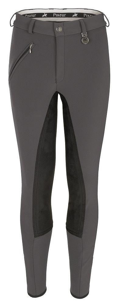 Pikeur Luguna Contrast breeches - Anthracite Grey with Black seat - Divine Equestrian