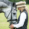 Charlotte Luxury Beige and natural taupe reversible head-warmer - Divine Equestrian