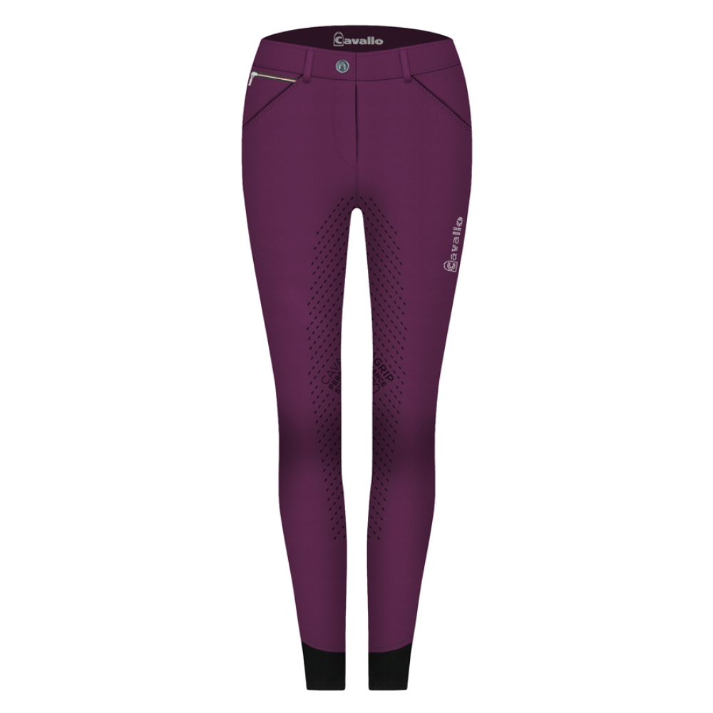 Cavallo Calima Grip Breeches - Wildberry - Divine Equestrian