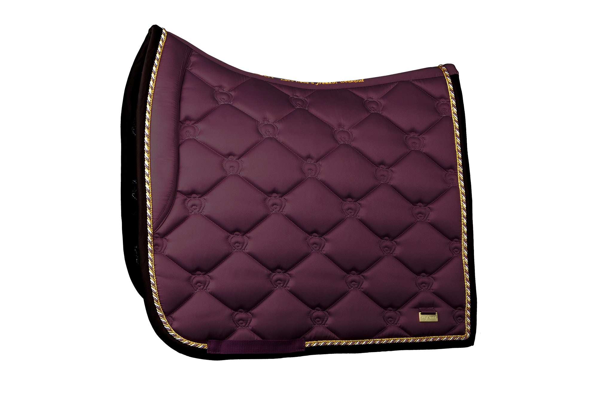PS of Sweden Monogram Saddle Pad - Wine - Divine Equestrian