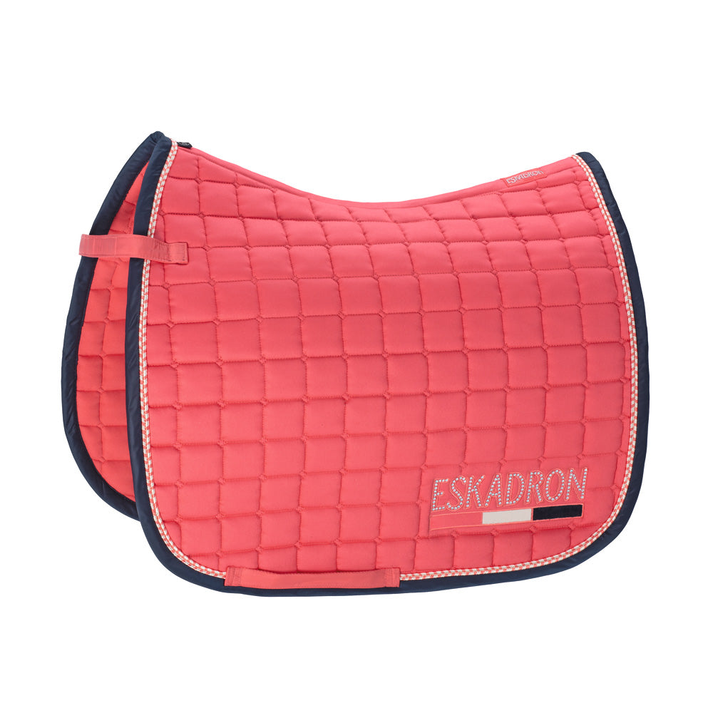 Eskadron Classic SS19 Cotton Crystal Saddle Pad - Fusion Coral - GP Only - Divine Equestrian