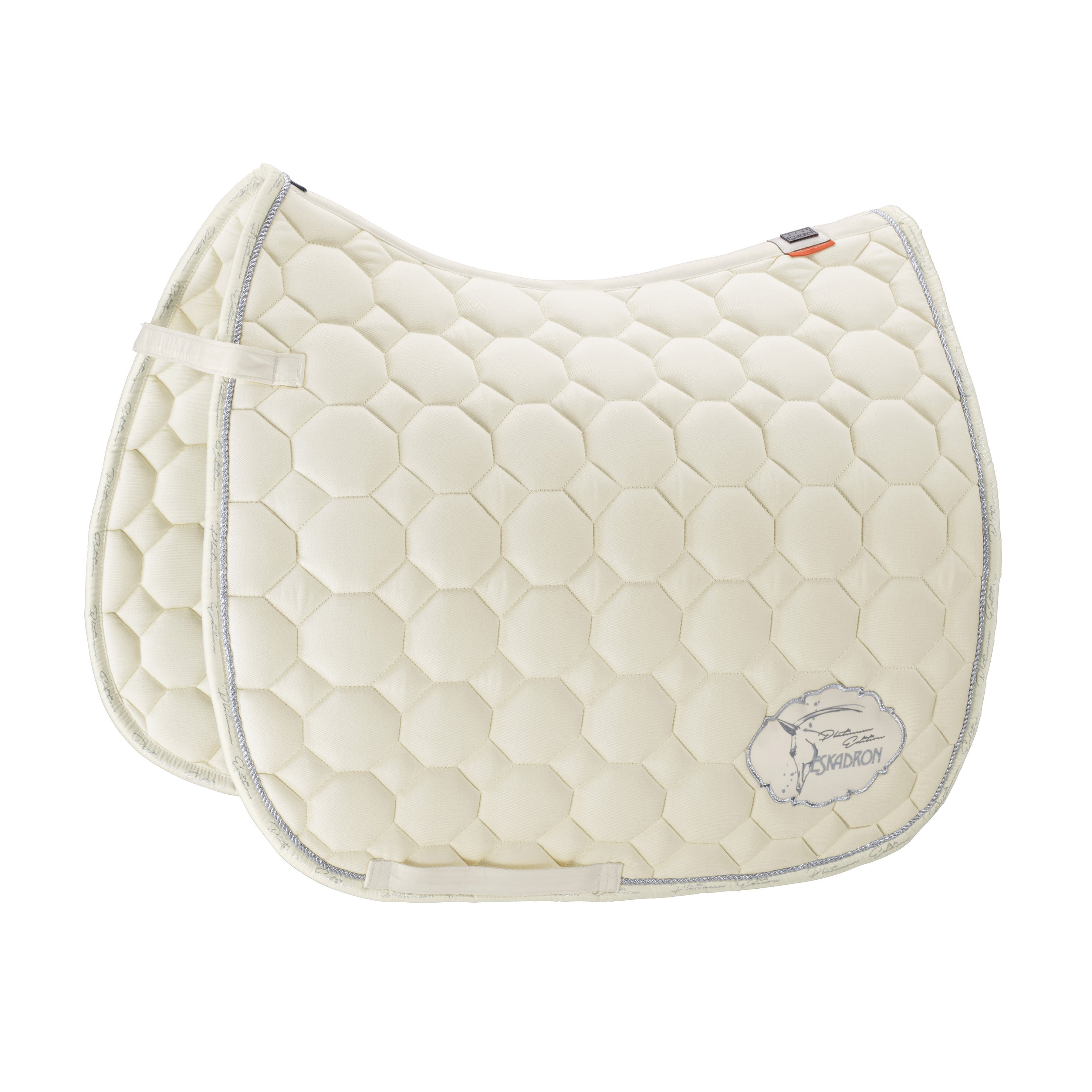 ESKADRON PLATINUM 19/20 COTTON EMBLEM SADDLE PAD - Off White - Divine Equestrian