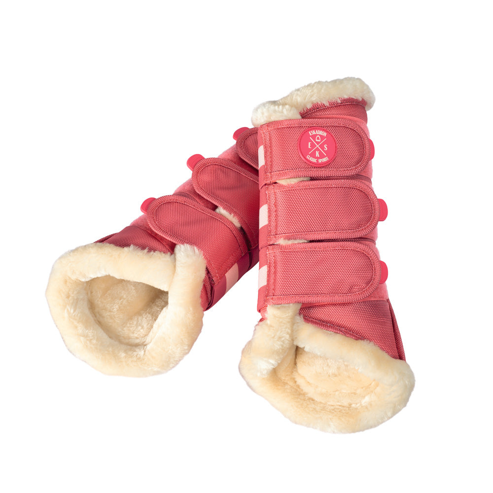 Eskadron Classic SS19 Faux Fur Brushing Boots - Fusion Coral - large only - Divine Equestrian