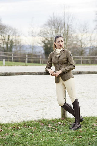 Cavallo Flint Tweed Show Jacket - Brown