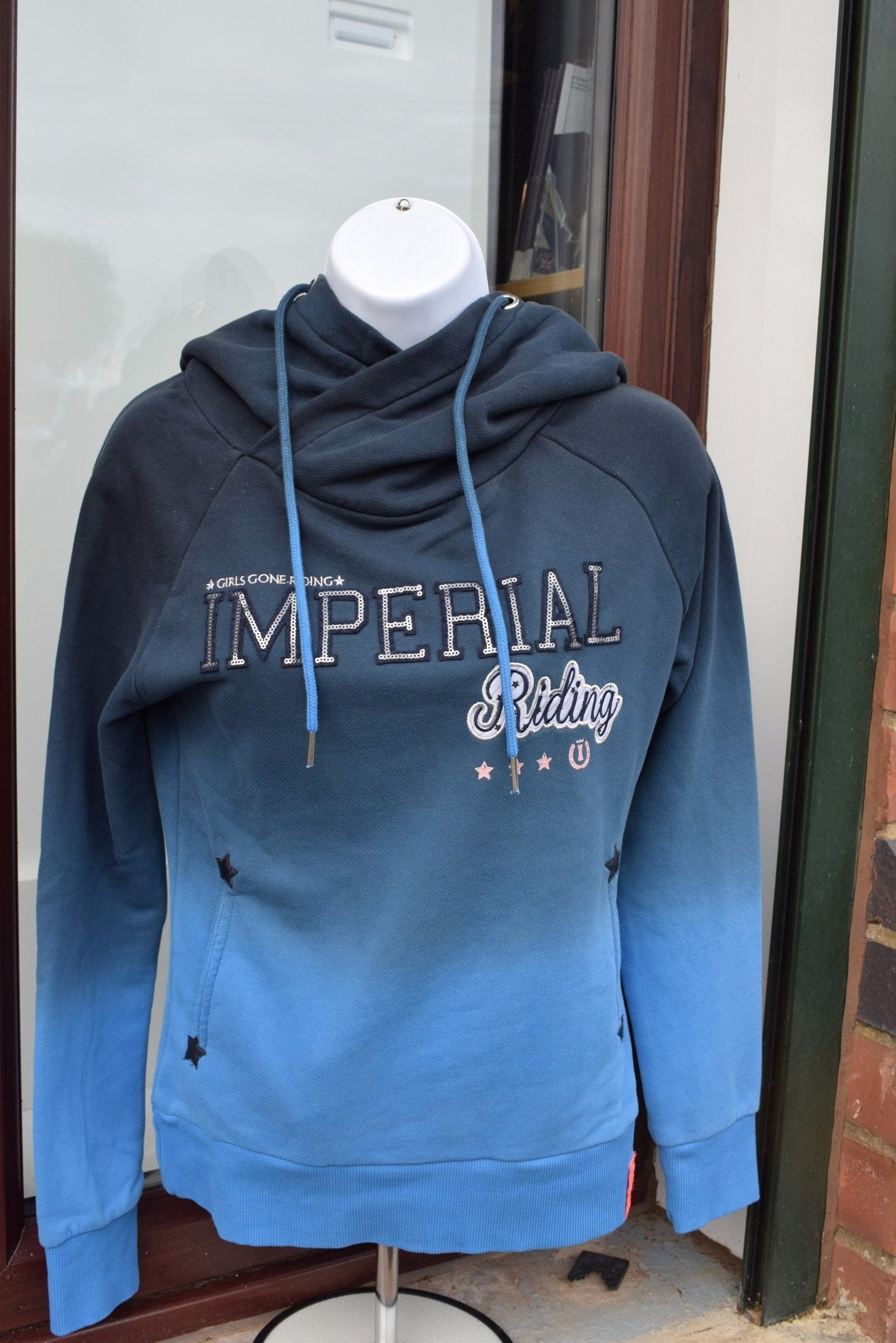 Imperial Riding Hoody Fade - Navy-Blue - Divine Equestrian