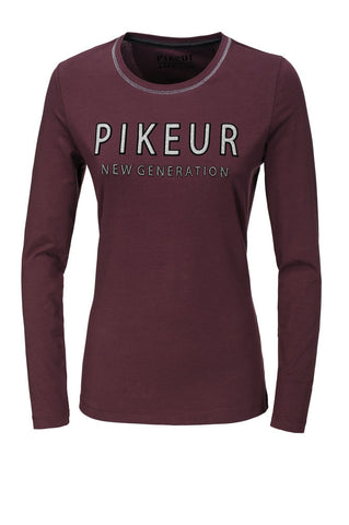 PIKEUR AW19 ISY LONG SLEEVED LADIES TOP- BORDEAX - Divine Equestrian