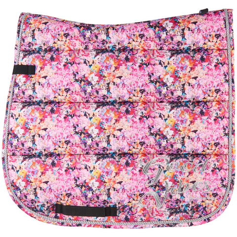 Imperial Riding Pattern saddle pad - Multi Flower - Dressage only