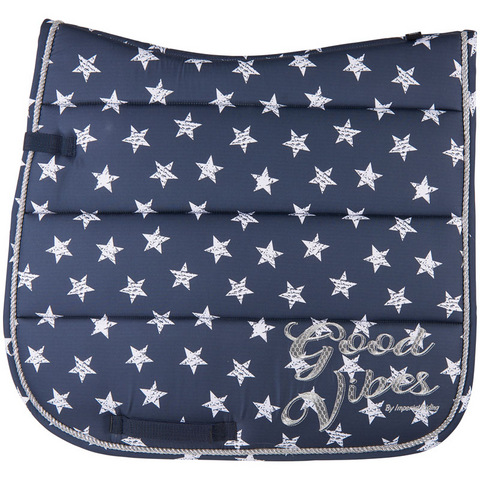 Imperial Riding Pattern saddle pad - Navy Stars - Dressage only