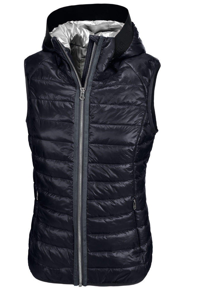 Pikeur SS19 Hanny Ladies Quilted Shiny Waistcoat- Navy - Divine Equestrian