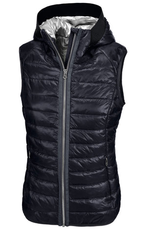 Pikeur SS19 Hanny Ladies Quilted Shiny Waistcoat- Navy