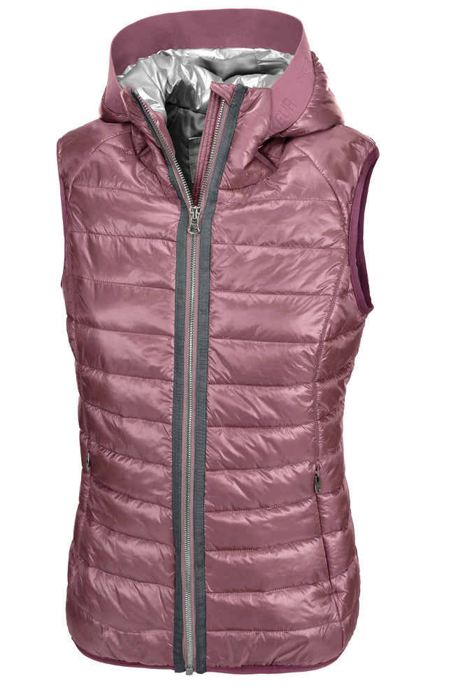 Pikeur SS19 Hanny Ladies Quilted Shiny Waistcoat- Foxglove melange - Divine Equestrian