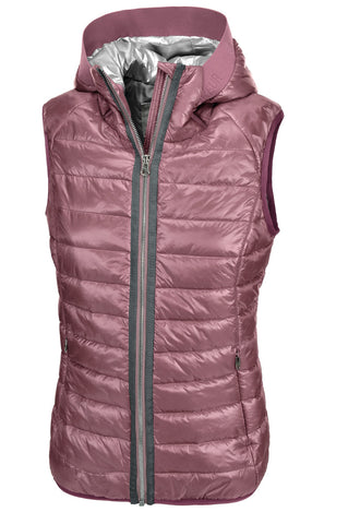 Pikeur SS19 Hanny Ladies Quilted Shiny Waistcoat- Foxglove melange