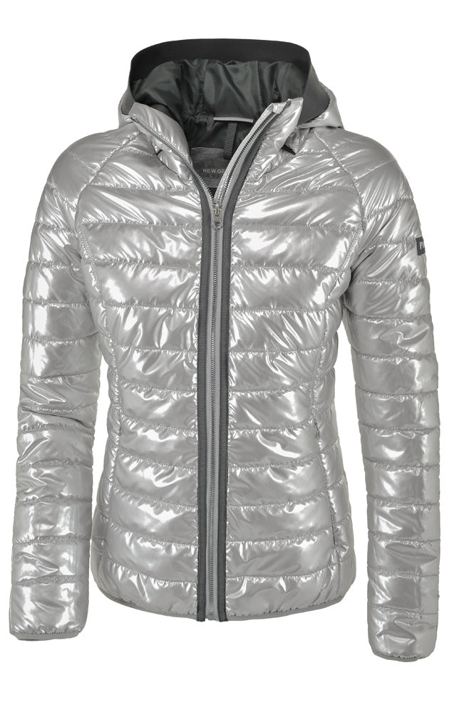 Pikeur Harriet Sporty Quilted Jacket  - Silver Metallic
