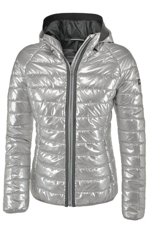 Pikeur Harriet Sporty Quilted Jacket  - Silver Metallic - Divine Equestrian