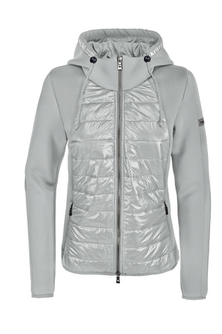 Pikeur SS20 Josy Mixed Material Jacket with Attached Hood- Light Grey - Divine Equestrian