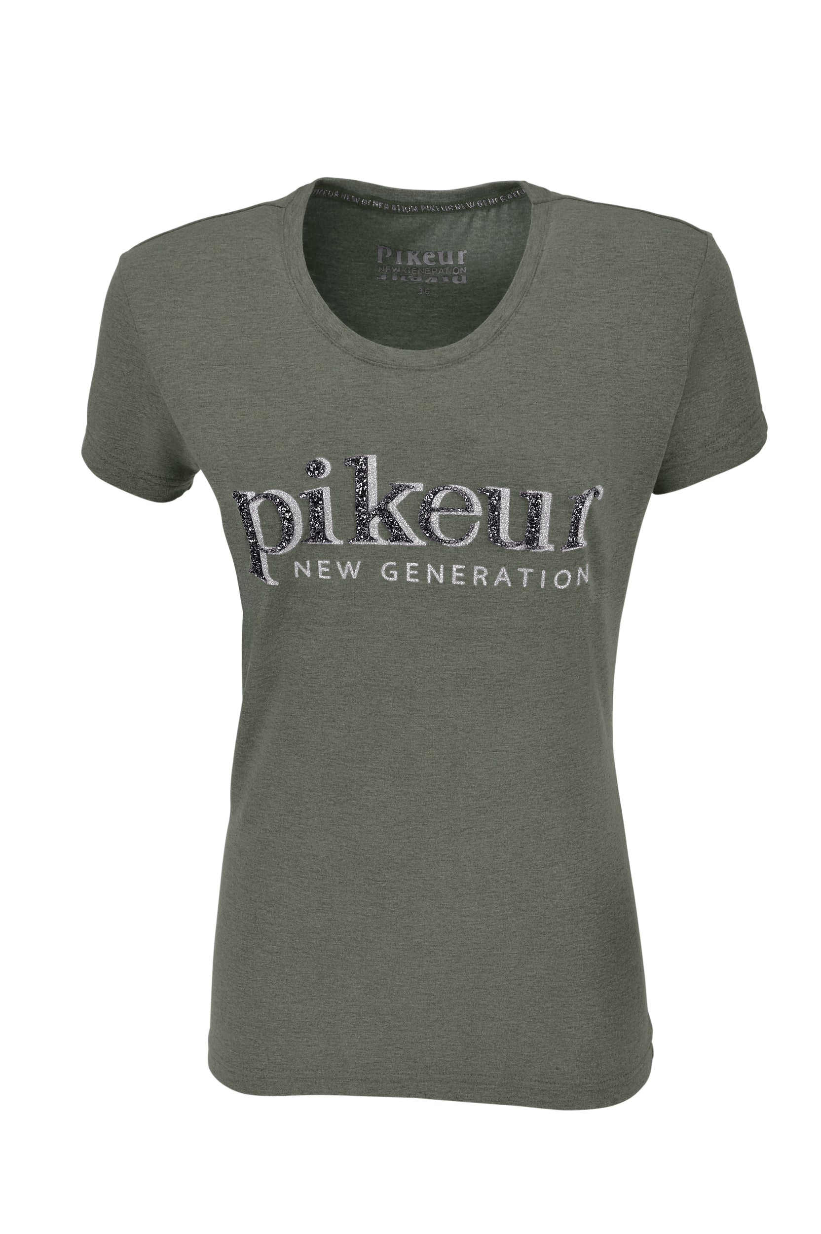 Pikeur SS20 Joan Ladies Round Neck T-shirt - Laurel Green Melange - Divine Equestrian