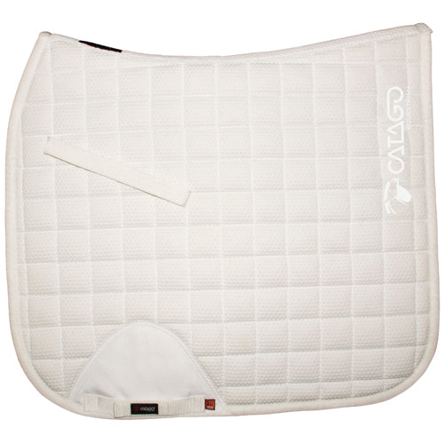 "CATAGO FIR-tech Healing Saddle Pad White/ White Logo - Pony / Cob 16"" only - Divine Equestrian"