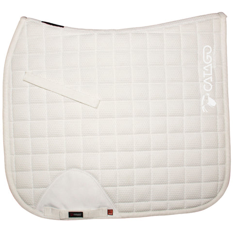 CATAGO FIR-tech Healing Saddle Pad White/ White Logo - Pony / Cob 16