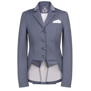 Fairplay Bea Ladies Competition Jacket Half Tails - Grey - Divine Equestrian
