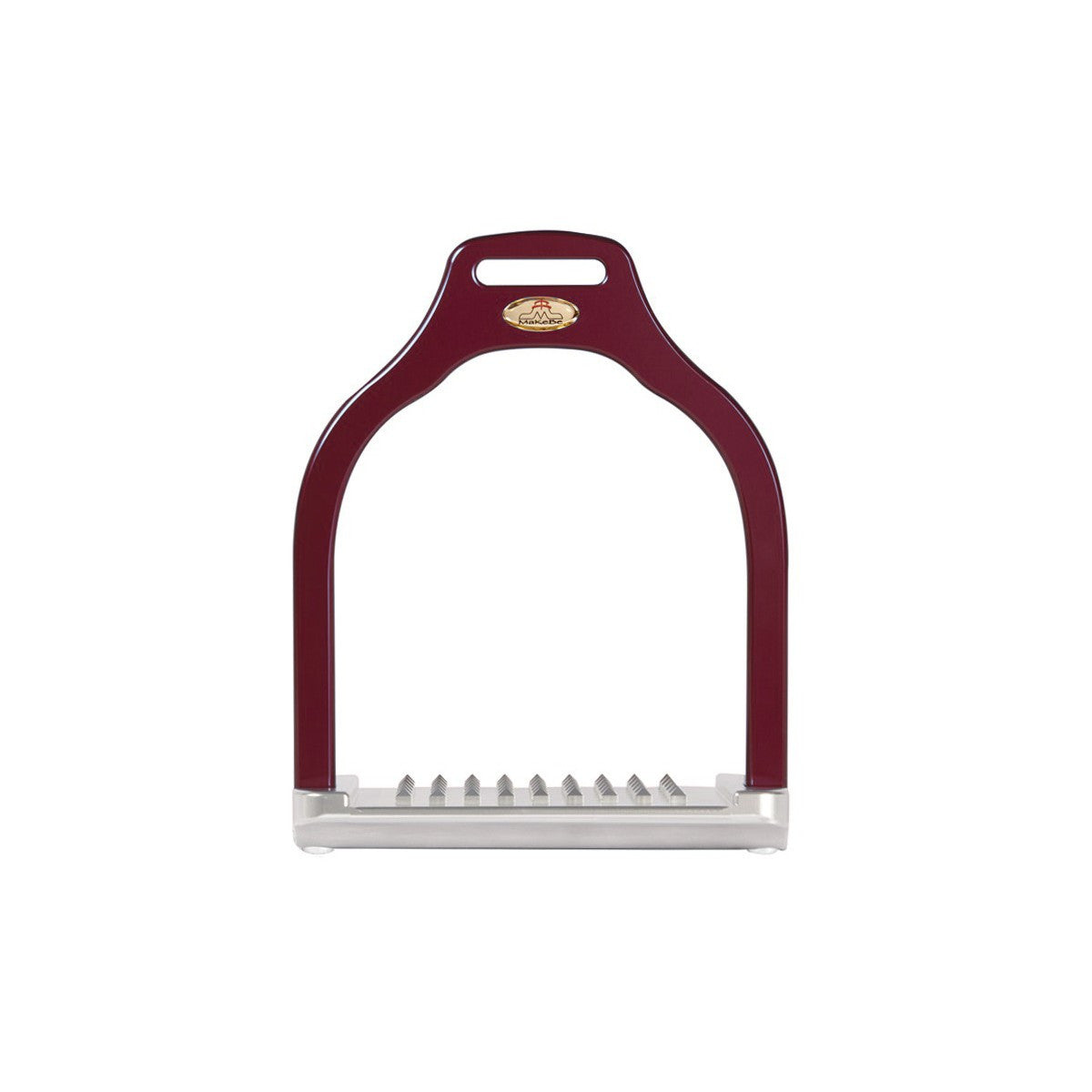 MakeBe Dressage Wave Stirrups in Burgandy / Purple
