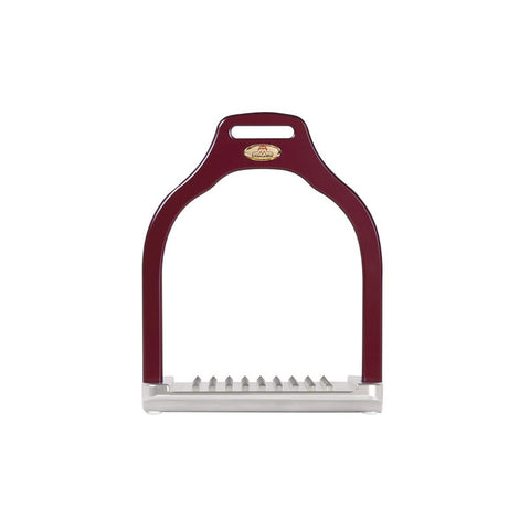 MakeBe Dressage Wave Stirrups in Burgandy / Purple - Divine Equestrian