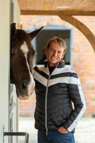 CARL HESTER COLLECTION VINCENZO QUILTED JACKET - BLACK/WHITE - Divine Equestrian